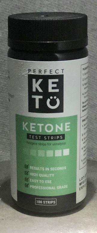 bottle of ketone test strips for urinalysis